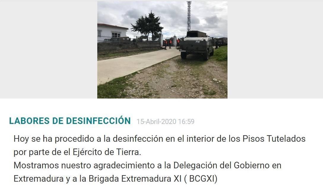 El Ejército de Tierra desinfecta Torremocha (Cáceres) por coronavirus 2020