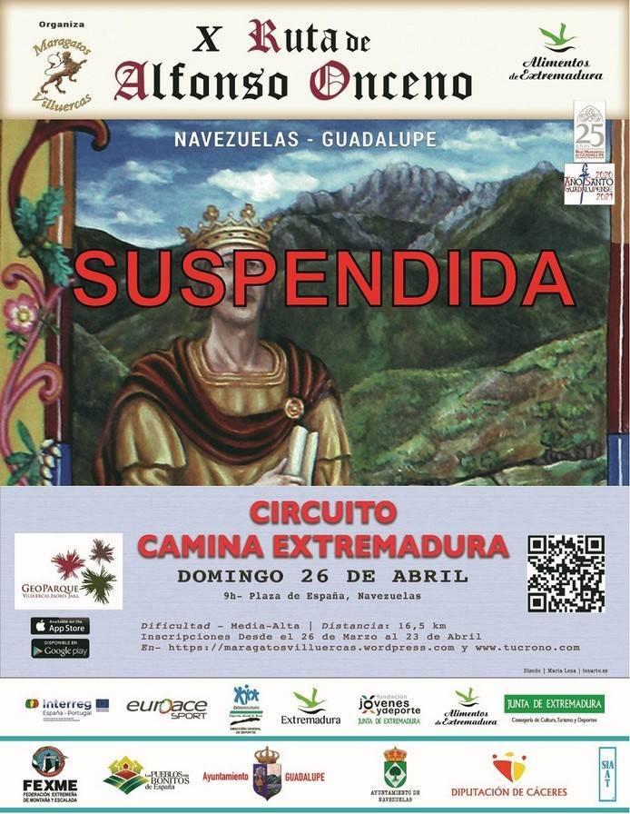 Suspendida la X Ruta de Alfonso Onceno - Navezuelas (Cáceres), Guadalupe (Cáceres)