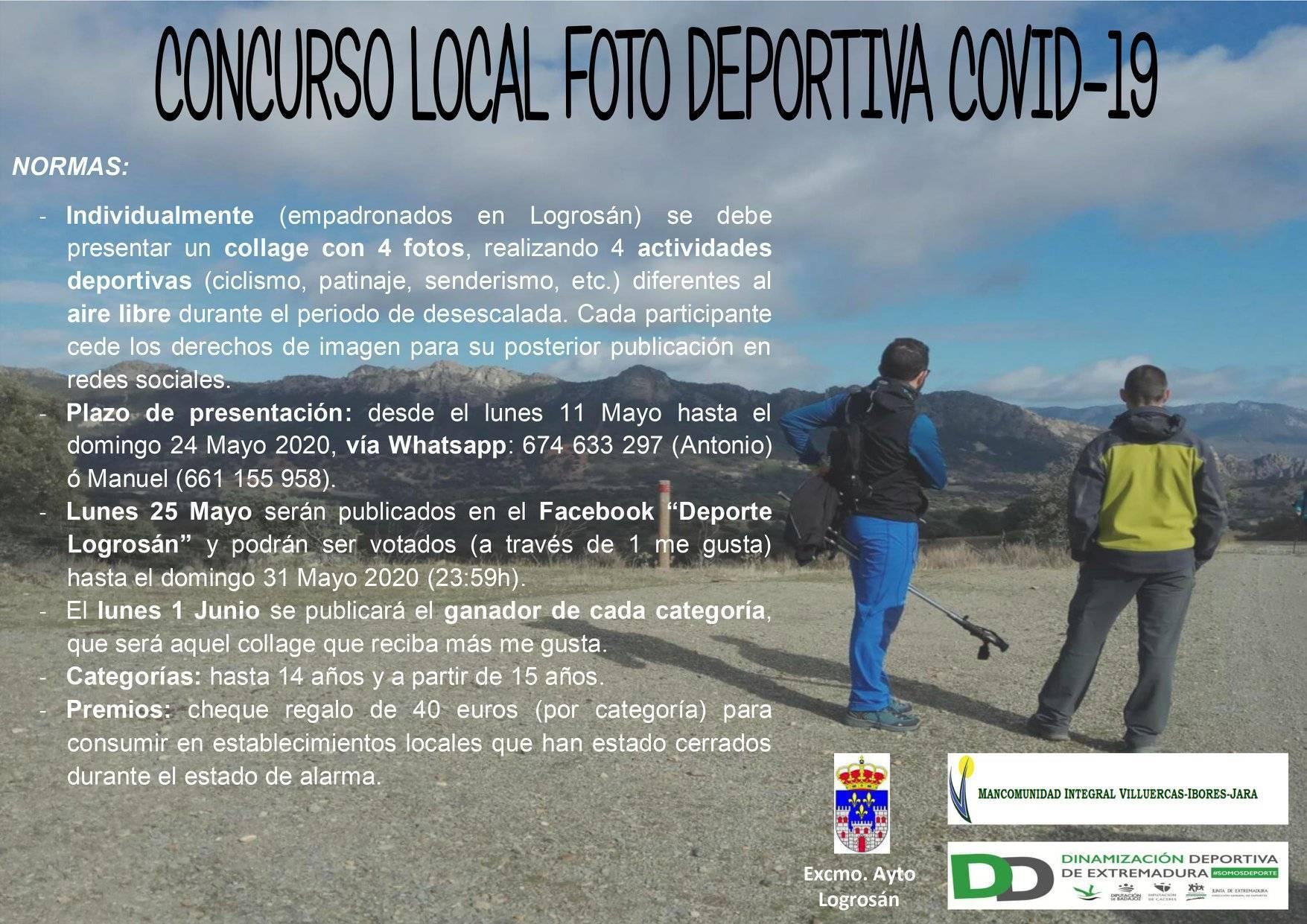 Concurso local de foto deportiva COVID-19 2020 - Logrosán (Cáceres)