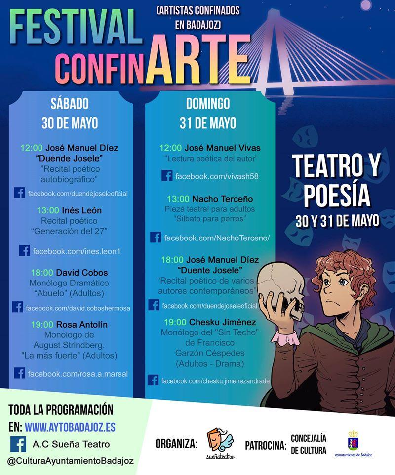 Festival ConfinARTE teatro y poesía 2020 - Badajoz