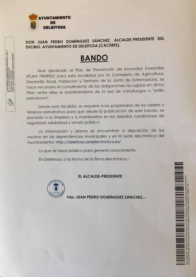 Limpieza de solares 2020 - Deleitosa (Cáceres)