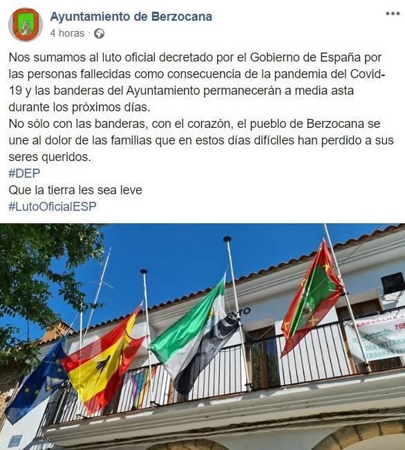 Luto oficial COVID-19 2020 - Berzocana (Cáceres)