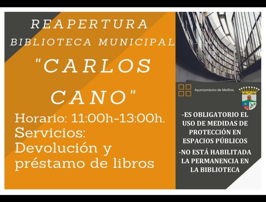 Reapertura biblioteca municipal 2020 - Mollina (Málaga)