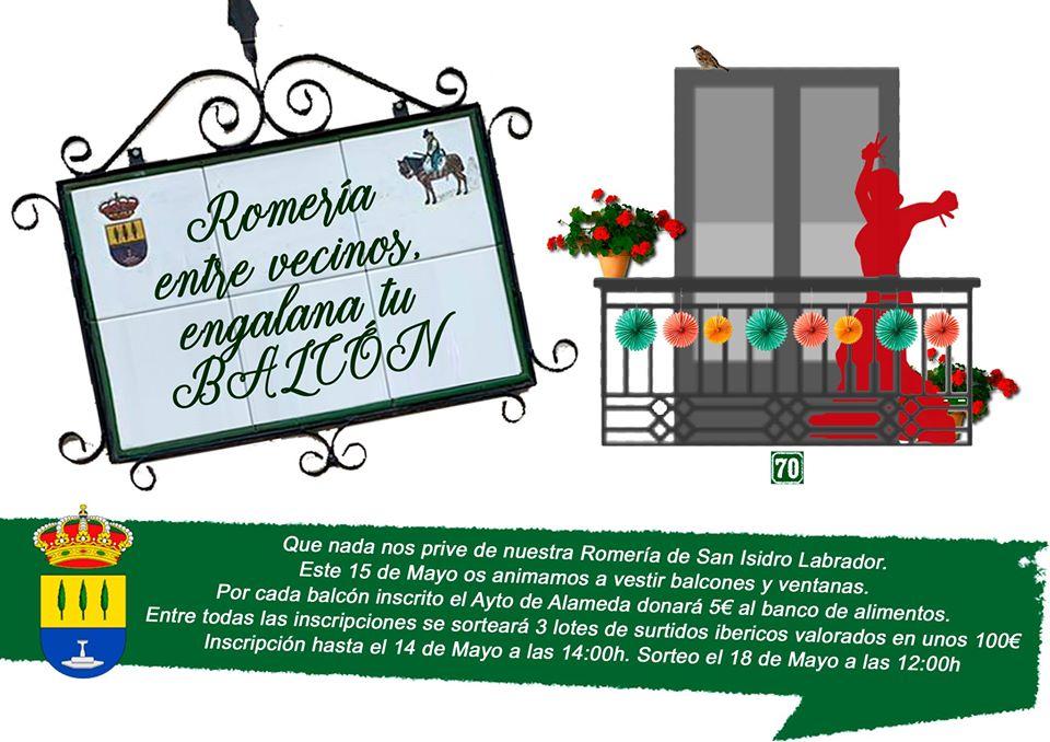 Romería entre vecinos, engalana tu balcón 2020 - Alameda (Málaga)