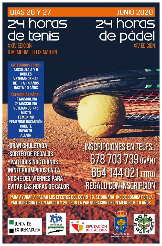 24 horas de tenis y pádel 2020 - Navalmoral de la Mata (Cáceres)