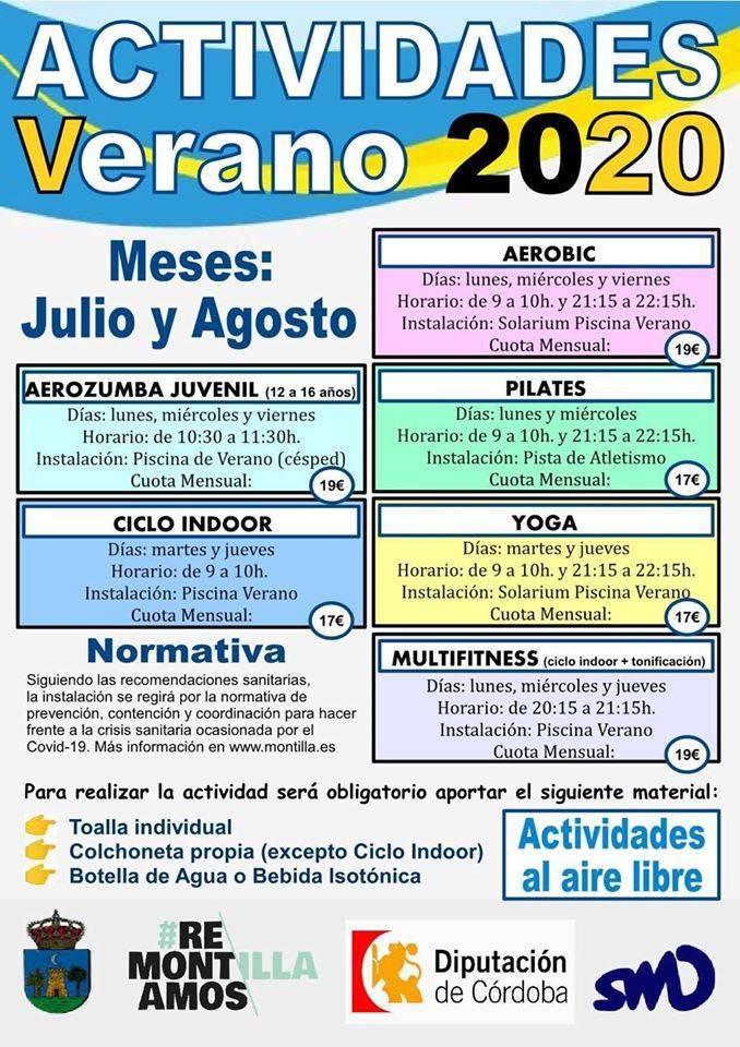 Actividades de verano 2020 - Montilla (Córdoba)