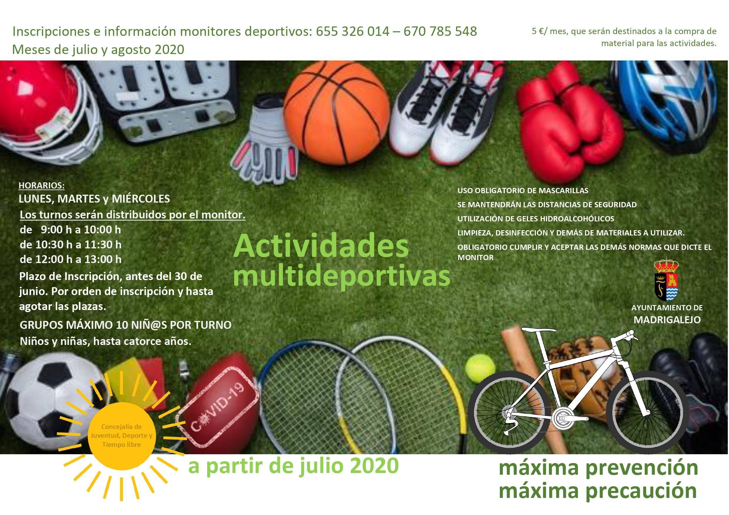 Actividades multideportivas 2020 - Madrigalejo (Cáceres)