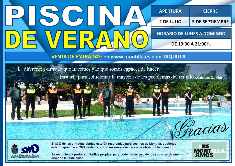 Apertura de la piscina 2020 - Montilla (Córdoba)