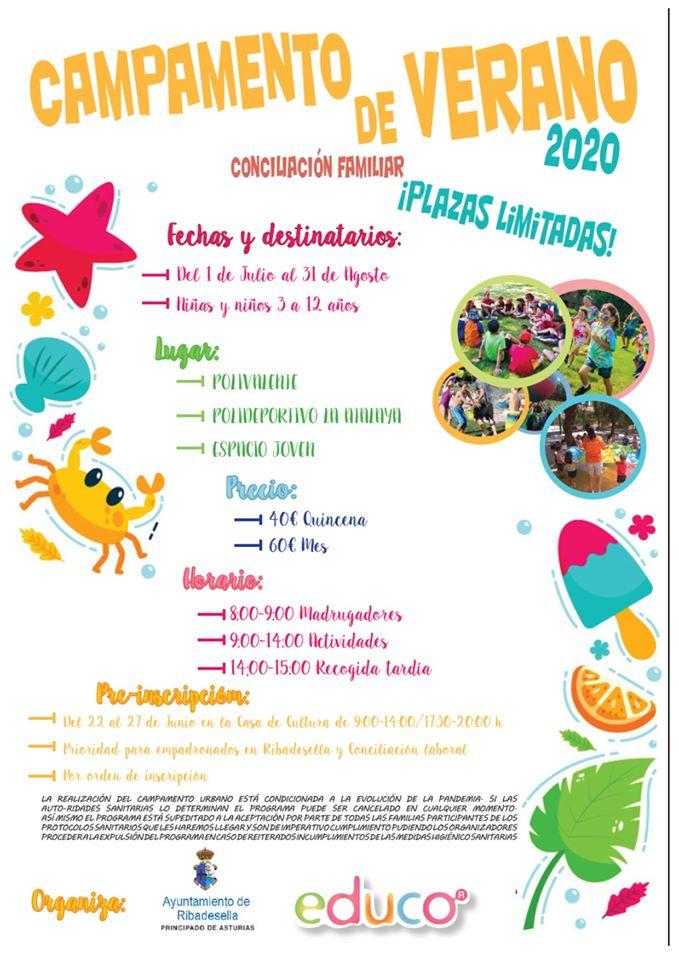 Campamento de verano 2020 - Ribadesella (Asturias)