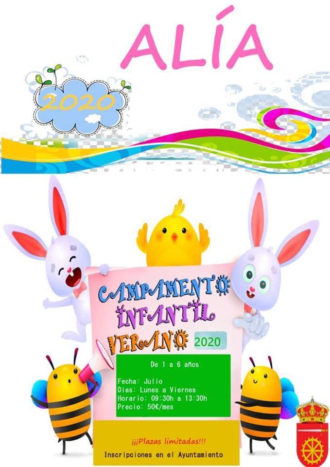 Campamento infantil de verano 2020 - Alía (Cáceres)