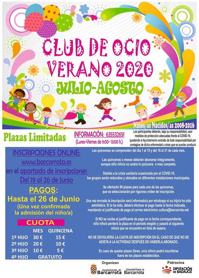 Club de ocio 2020 - Barcarrota (Badajoz)
