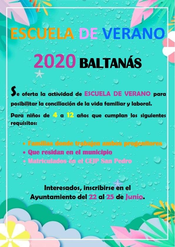 Escuela de verano 2020 - Baltanás (Palencia)