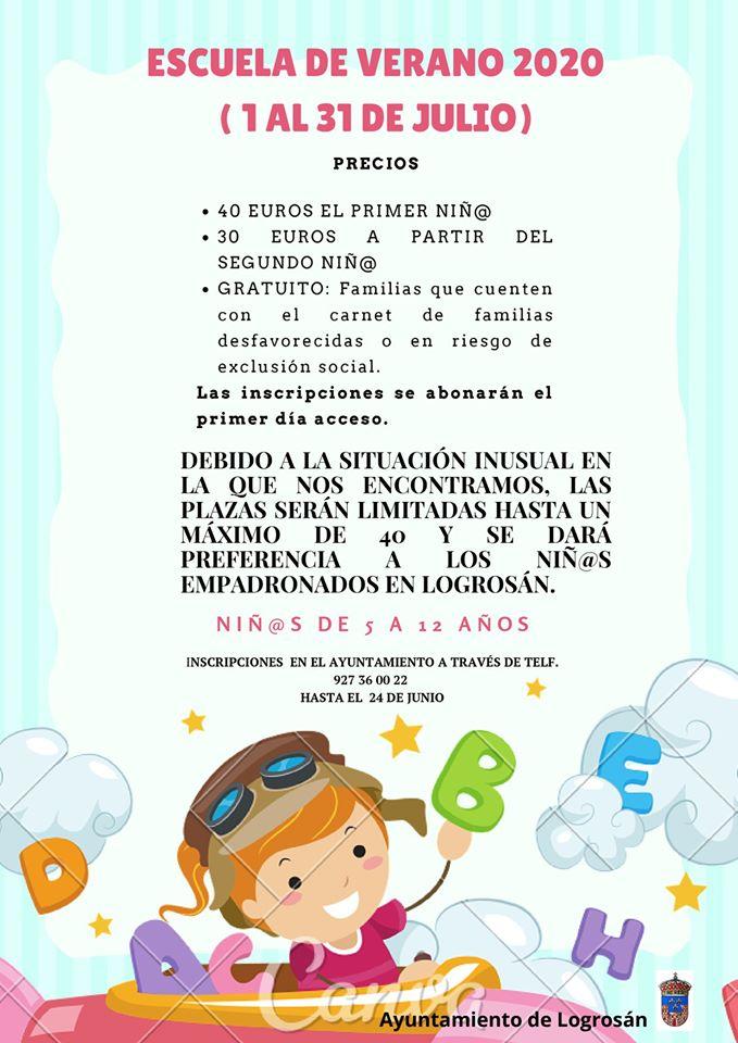 Escuela de verano 2020 - Logrosán (Cáceres)
