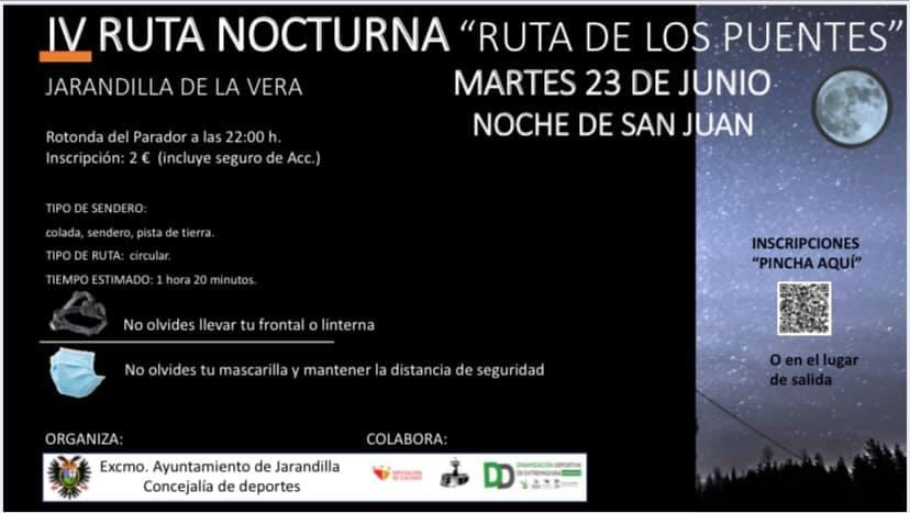 IV ruta nocturna - Jarandilla de la Vera (Cáceres)
