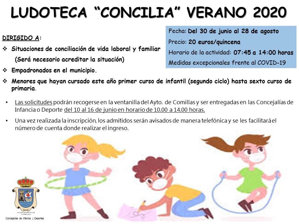 Ludoteca concilia verano 2020 - Comillas (Cantabria)