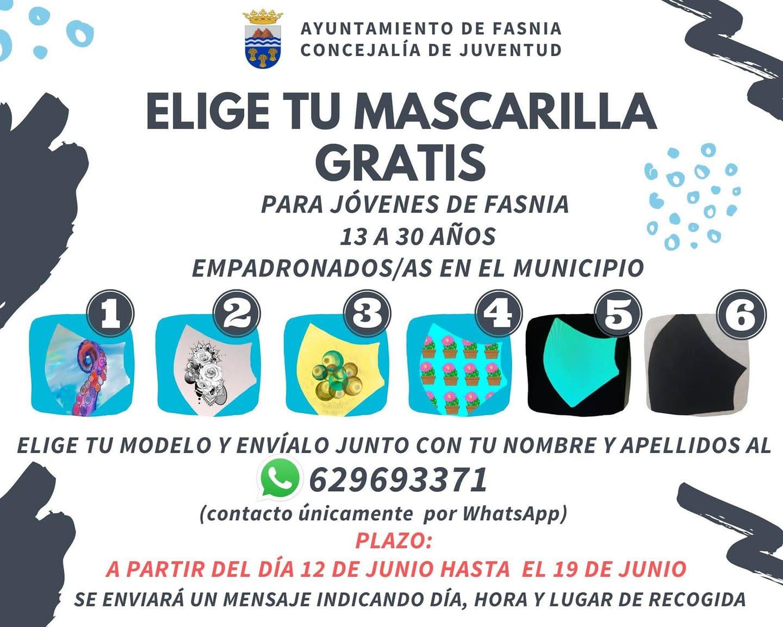 Mascarilla gratis 2020 - Fasnia (Santa Cruz de Tenerife)