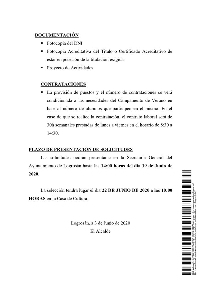 Monitor para escuela de verano 2020 - Logrosán (Cáceres) 2