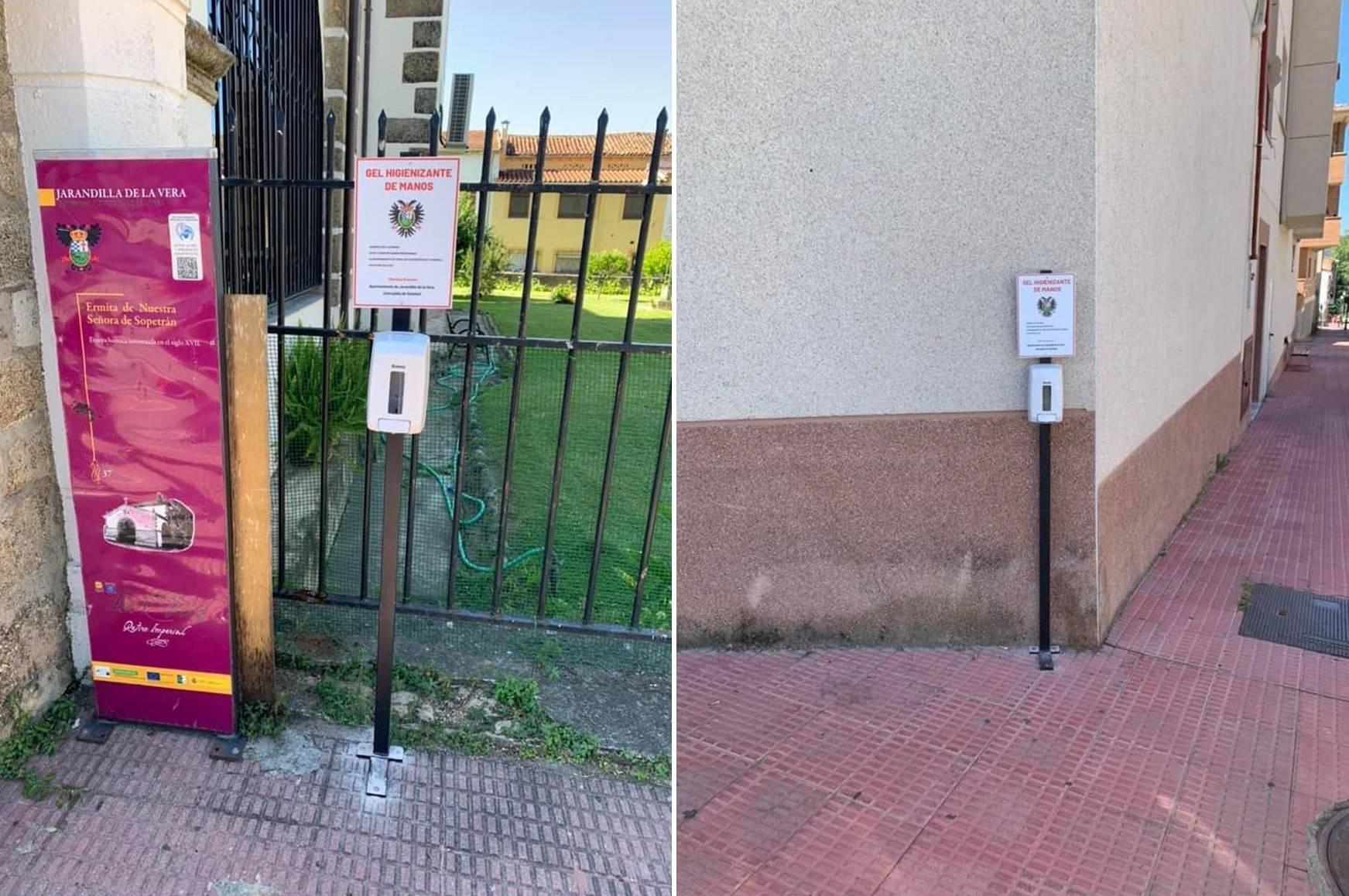 Se instalan 100 puntos de desinfección de manos 2020 - Jarandilla de la Vera (Cáceres)