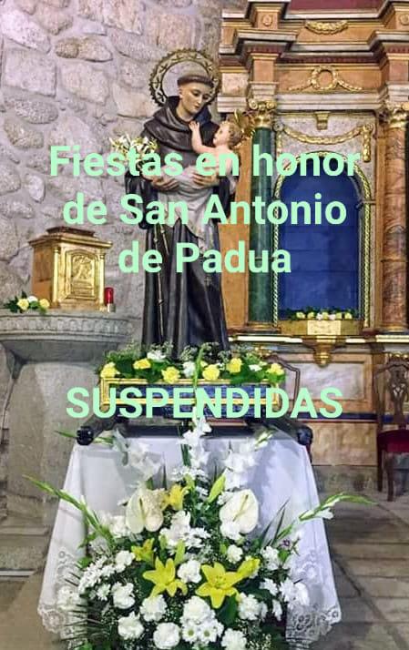 Se suspenden las fiestas en honor de San Antonio de Padua 2020 - Fresnedilla (Ávila)