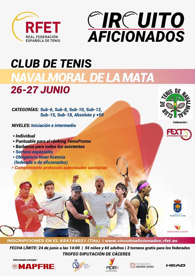 Trofeo Diputación de Cáceres de tenis 2020 - Navalmoral de la Mata (Cáceres)