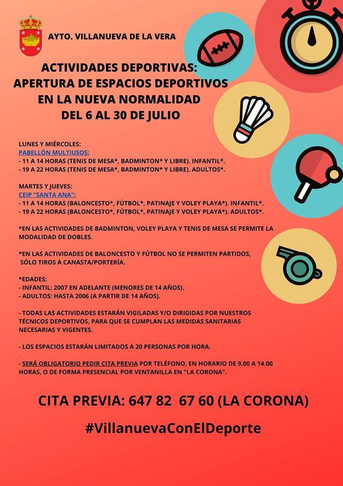Actividades deportivas julio 2020 - Villanueva de la Vera (Cáceres) 2