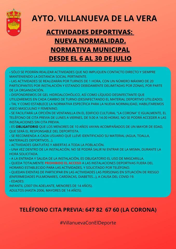 Actividades deportivas julio 2020 - Villanueva de la Vera (Cáceres) 3