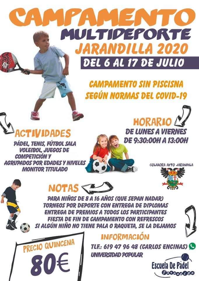 Campamento multideporte 2020 - Jarandilla de la Vera (Cáceres)