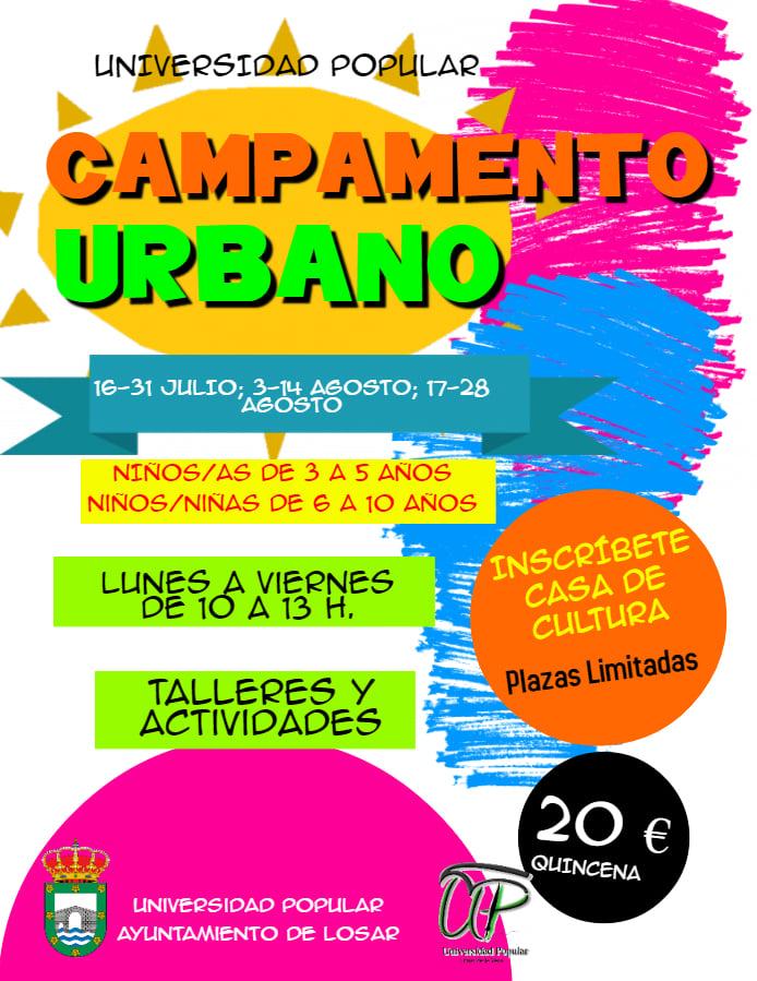 Campamento urbano 2020 - Losar de la Vera (Cáceres)