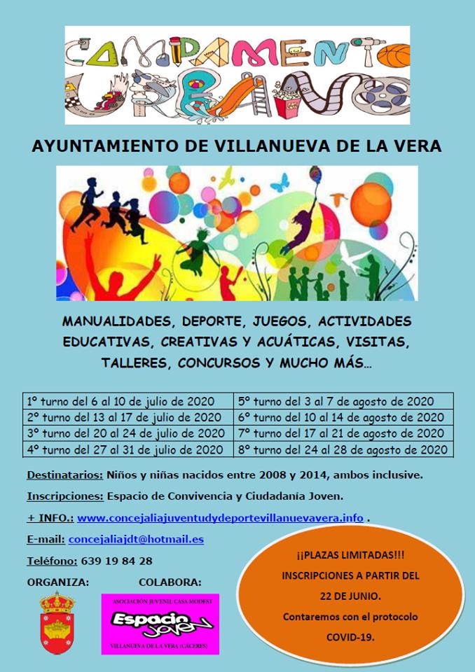 Campamento urbano 2020 - Villanueva de la Vera (Cáceres)