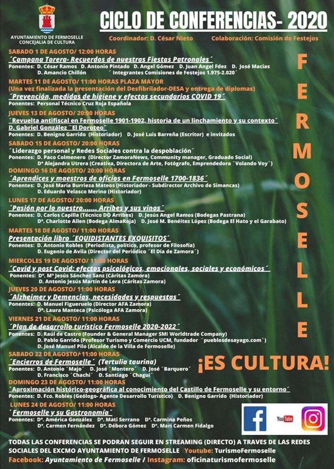 Ciclo de conferencias 2020 - Fermoselle (Zamora)