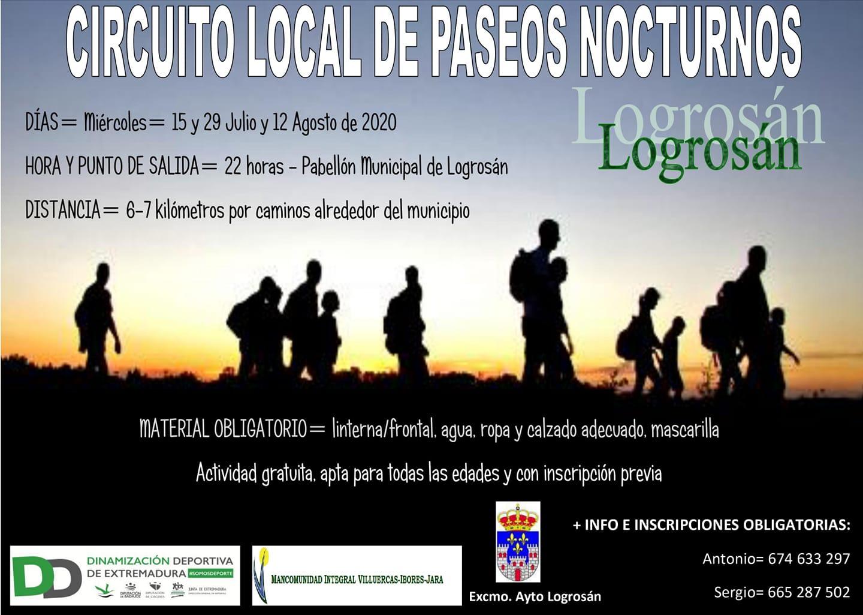 Circuito local de paseos nocturnos 2020 - Logrosán (Cáceres)