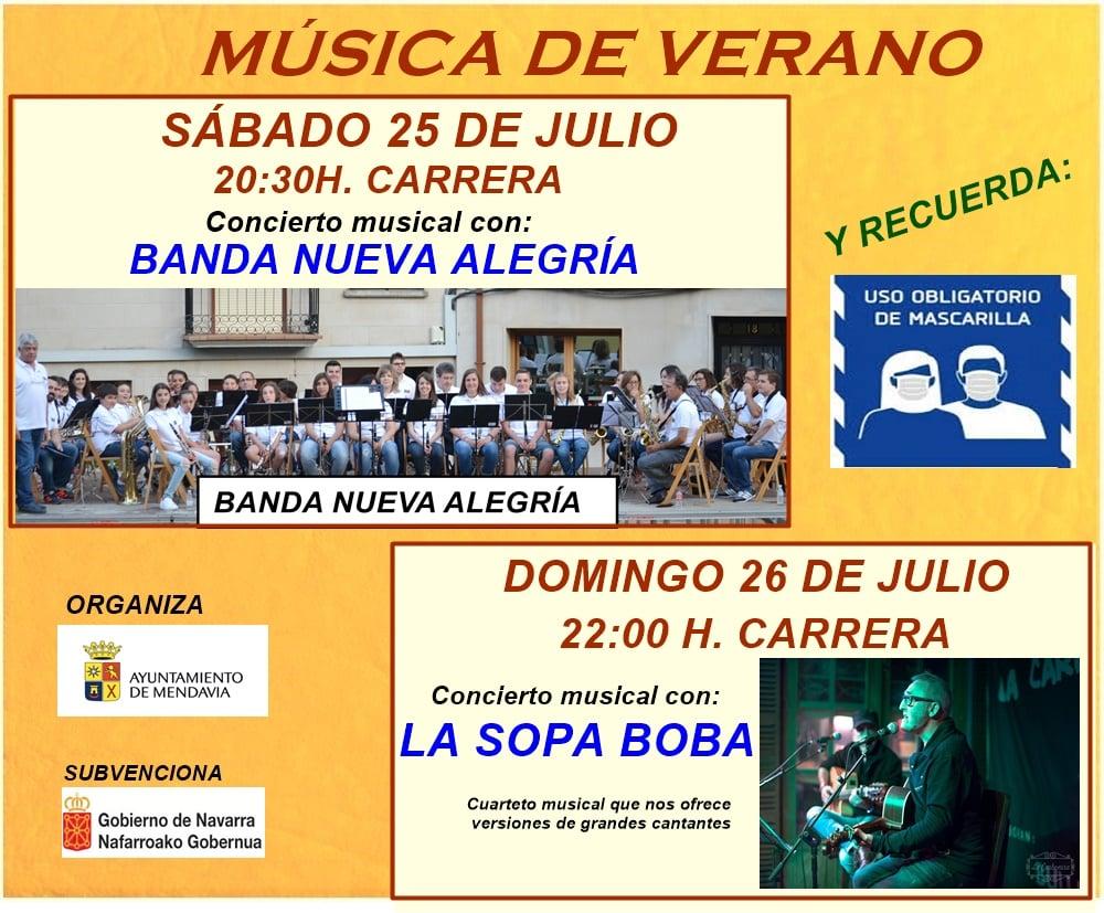 Concierto musical julio 2020 - Mendavia (Navarra)