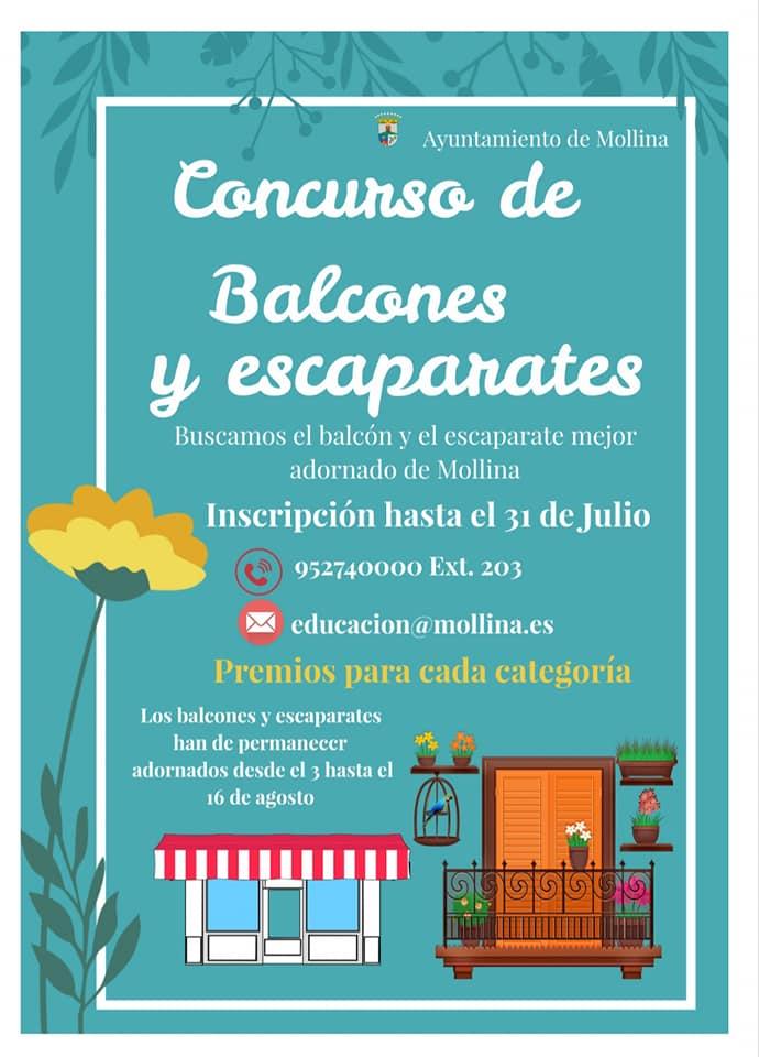Concurso de balcones y escaparates 2020 - Mollina (Málaga)
