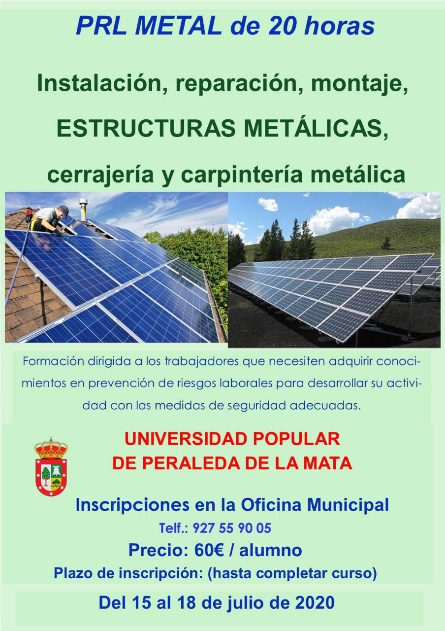 Curso de PRL metal 2020 - Peraleda de la Mata (Cáceres)