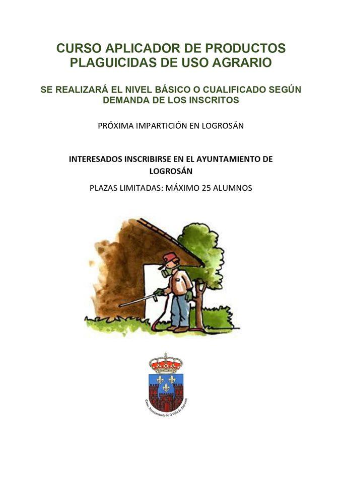 Curso de aplicador de productos plaguicidas 2020 - Logrosán (Cáceres)
