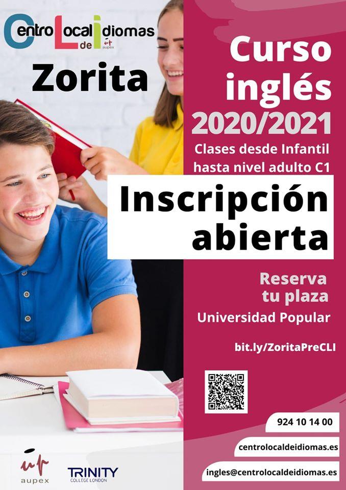 Curso de inglés 2020-2021 - Zorita (Cáceres)