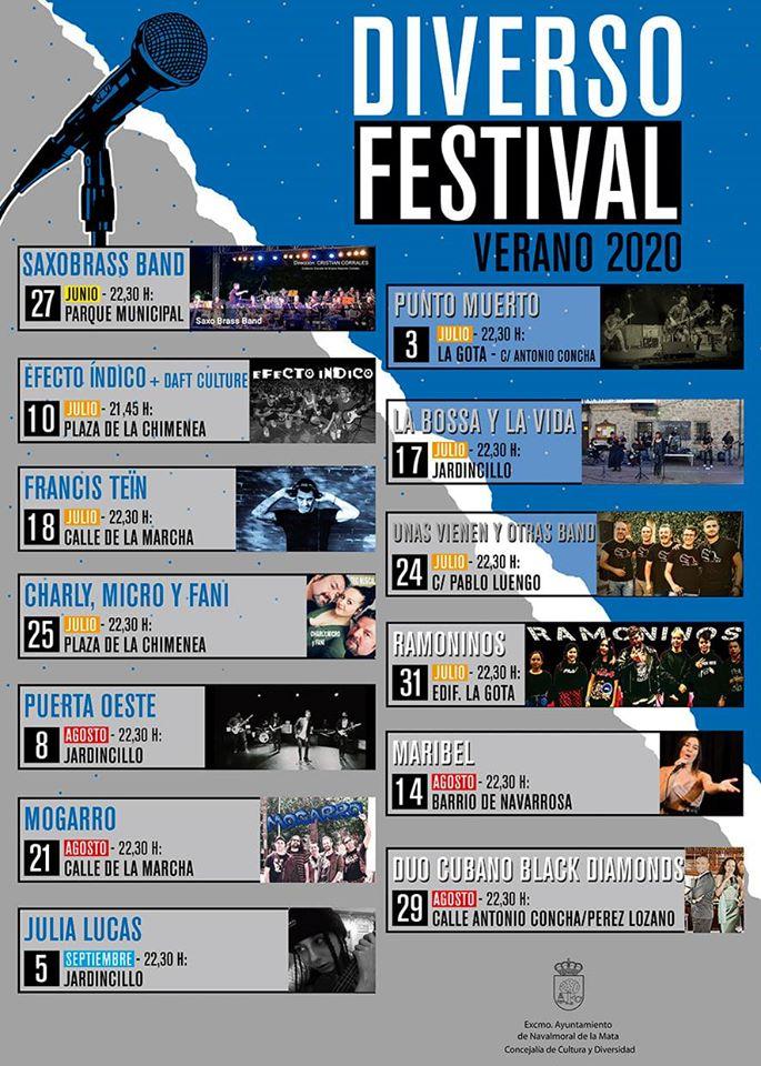 Diverso Festival verano 2020 - Navalmoral de la Mata (Cáceres)