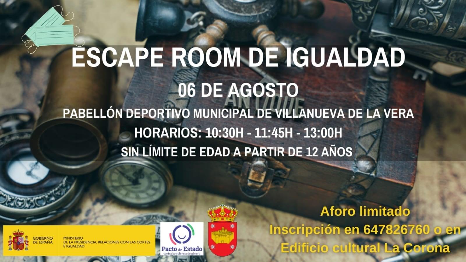 Escape room de igualdad 2020 - Villanueva de la Vera (Cáceres)