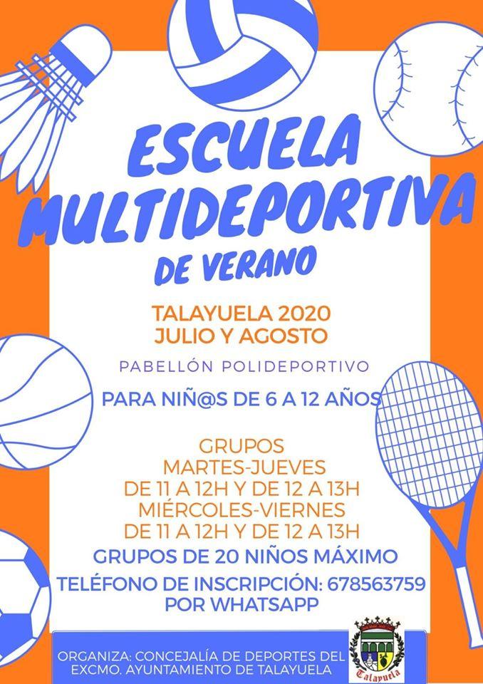 Escuela multideportiva de verano 2020 - Talayuela (Cáceres)