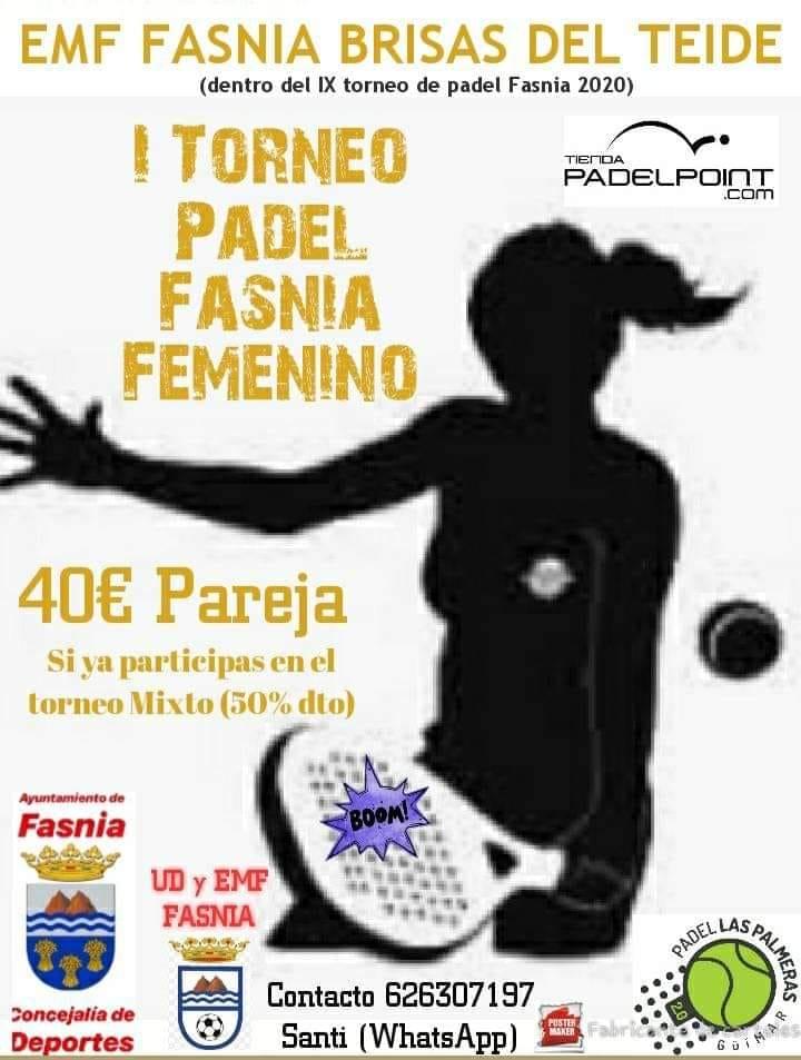 I torneo de pádel femenino - Fasnia (Santa Cruz de Tenerife)