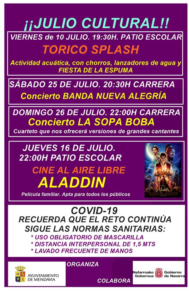 Julio cultural 2020 - Mendavia (Navarra)
