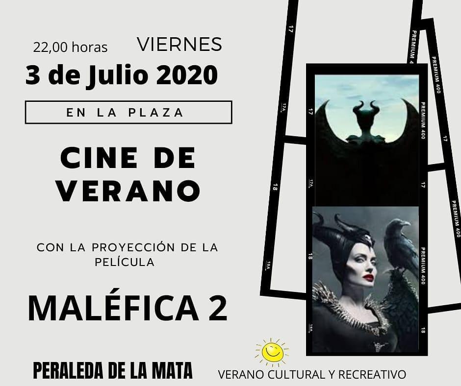 Maléfica 2 cine de verano 2020 - Peraleda de la Mata (Cáceres)