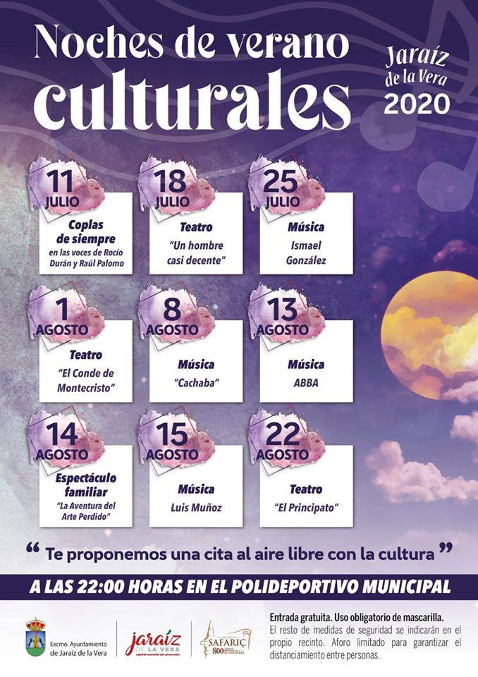 Noches de verano culturales 2020 - Jaraíz de la Vera (Cáceres)