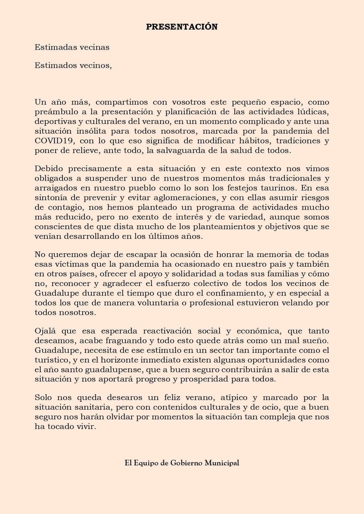 Programa cultural de verano 2020 - Guadalupe (Cáceres) 2
