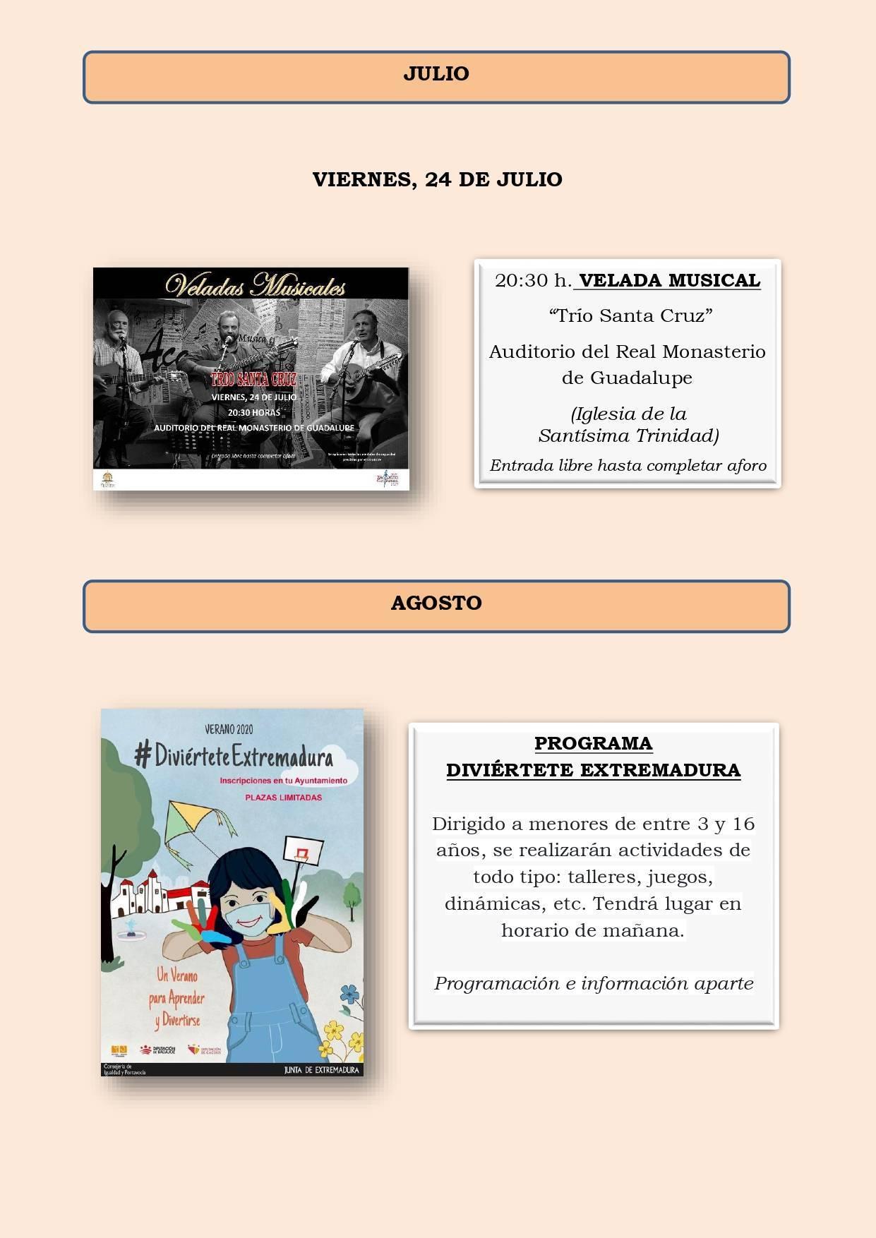 Programa cultural de verano 2020 - Guadalupe (Cáceres) 3