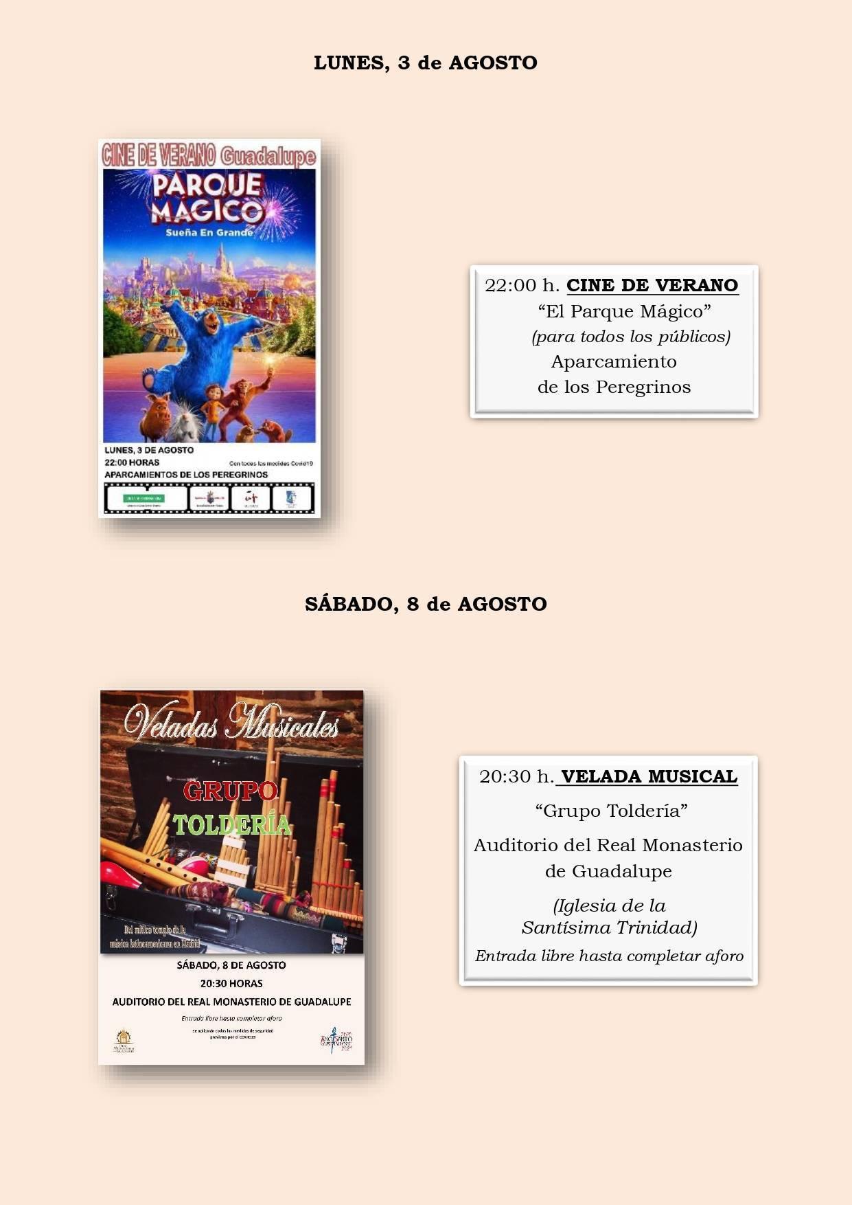 Programa cultural de verano 2020 - Guadalupe (Cáceres) 4