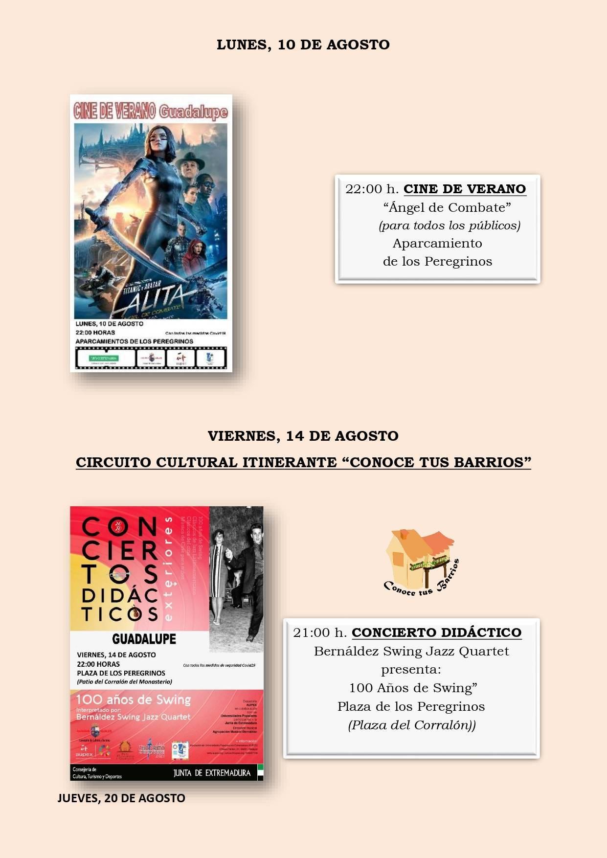 Programa cultural de verano 2020 - Guadalupe (Cáceres) 5
