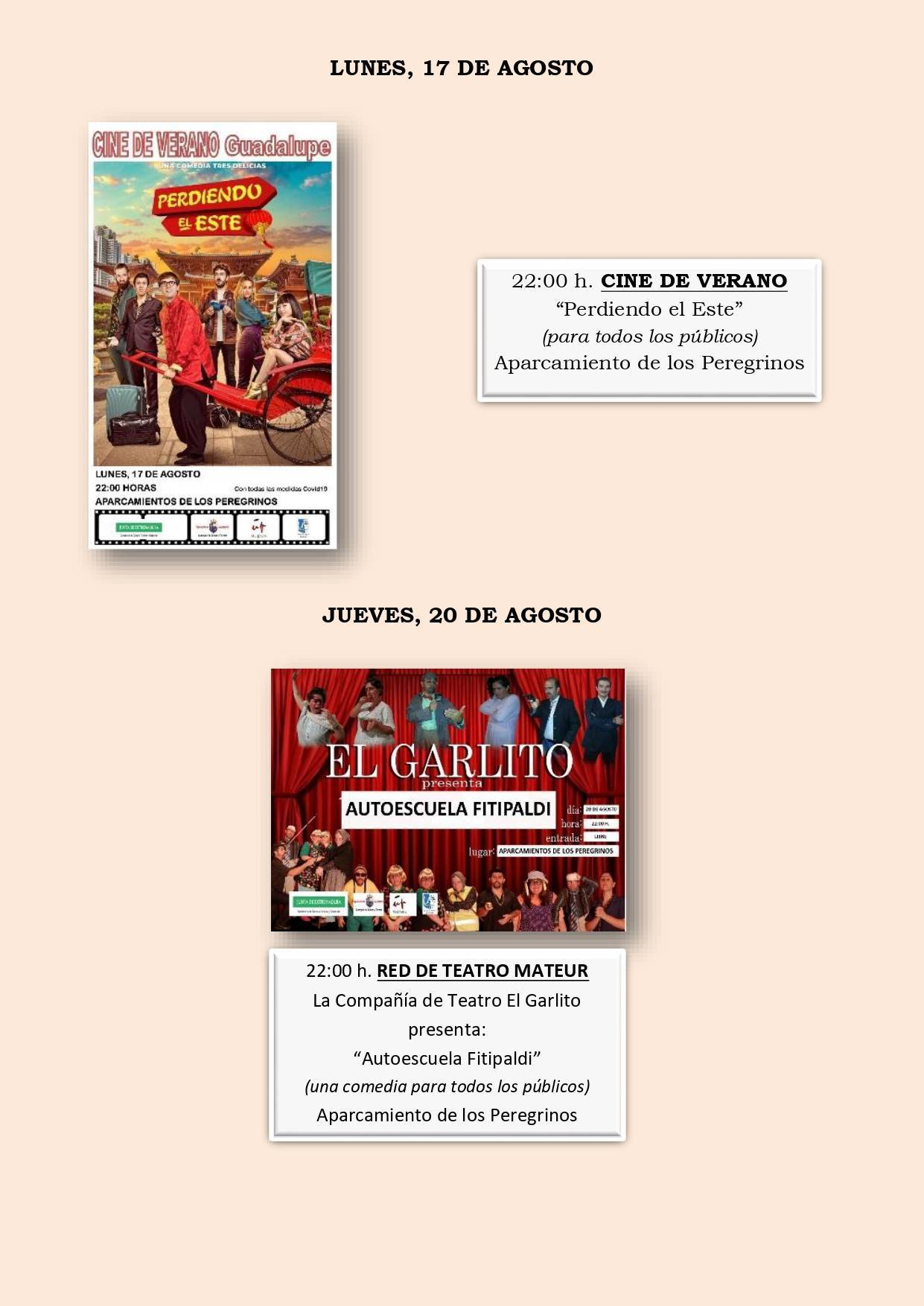 Programa cultural de verano 2020 - Guadalupe (Cáceres) 6