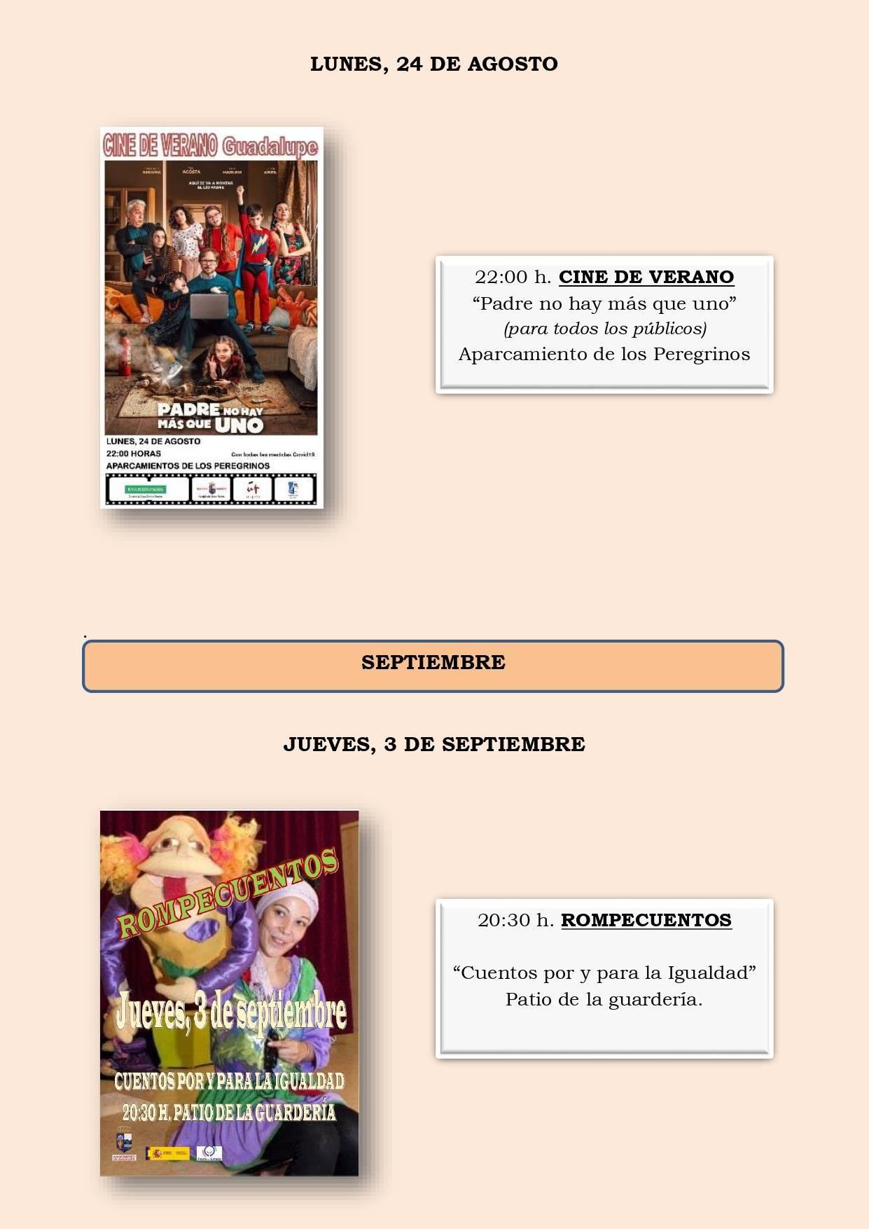 Programa cultural de verano 2020 - Guadalupe (Cáceres) 7