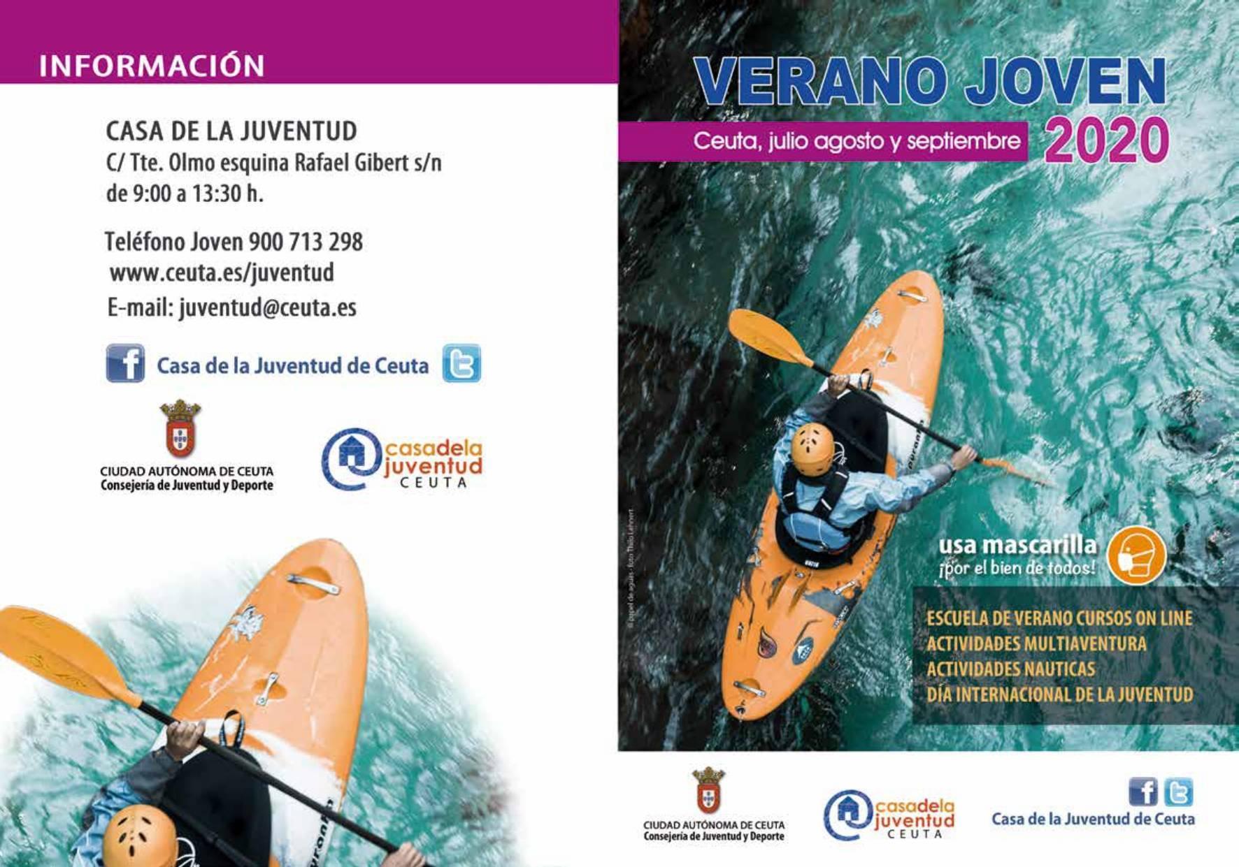 Programa verano joven 2020 - Ceuta 1